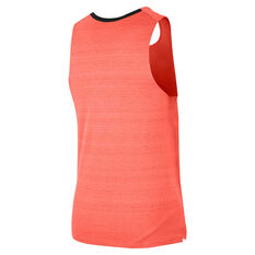 Nike Mens Dri-FIT Miler Tank Orange S, Orange, rebel_hi-res