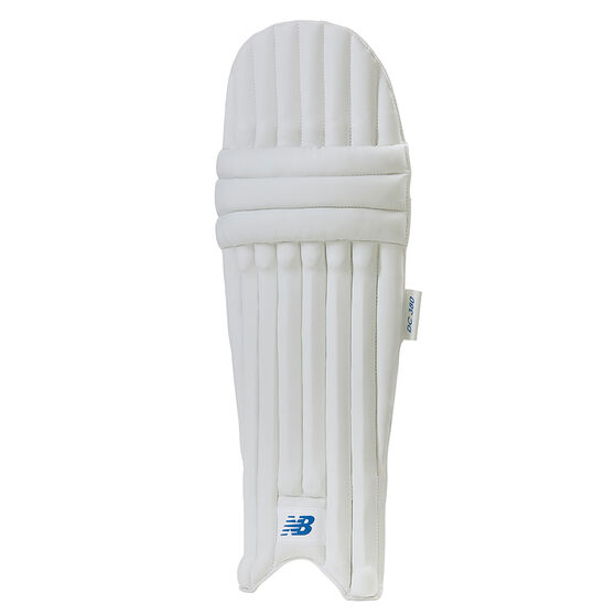 New Balance Junior DC 380 Cricket Pads, White, rebel_hi-res