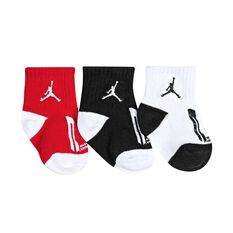 Nike Toddlers Jordan Jumpman Gripper Socks 3 Pack White / Black 6 / 12 Months, White / Black, rebel_hi-res