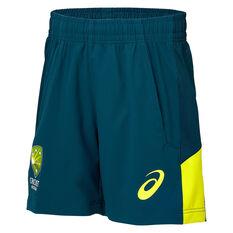 Cricket Australia 2019/20 Mens Training Shorts Green XL, Green, rebel_hi-res