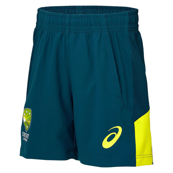 Cricket Australia 2019/20 Mens Training Shorts, Green, rebel_hi-res