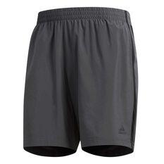 adidas Mens Own the Run 7in Running Shorts Grey S, Grey, rebel_hi-res