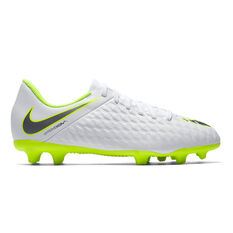 Nike Hypervenom Phantom III Club Kids Football Boots White / Grey US 10, White / Grey, rebel_hi-res