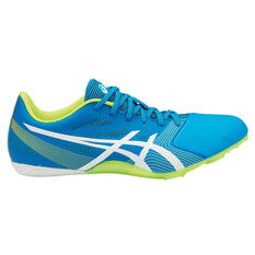 Asics Hyper Sprint 6 Mens Track and Field Shoes Blue / Yellow US 7, Blue / Yellow, rebel_hi-res