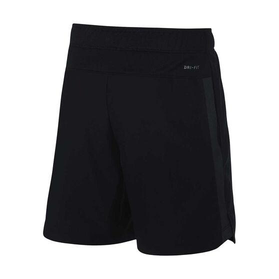 Nike Boys 6IN Flex Challenger Shorts, Black / Grey, rebel_hi-res
