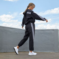 adidas Womens Travel Pants Black M, Black, rebel_hi-res