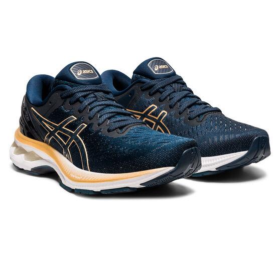 Asics GEL Kayano 27 Womens Running Shoes, Blue/Brown, rebel_hi-res