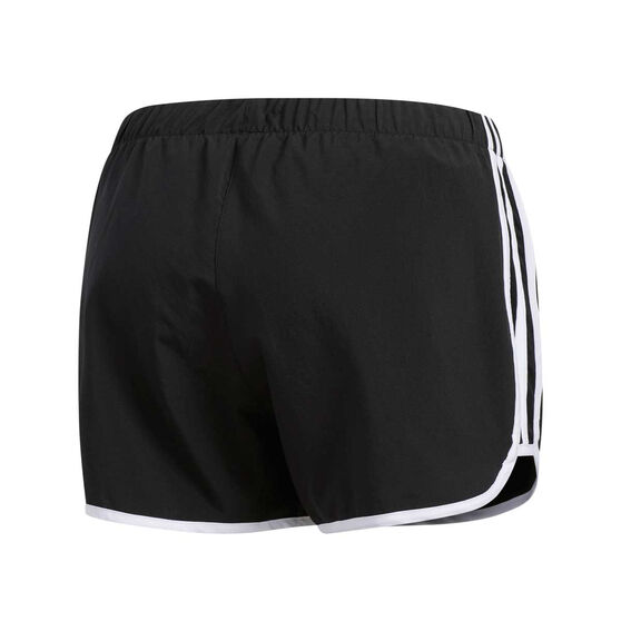 adidas Womens Marathon 20 Running Shorts, Black / White, rebel_hi-res