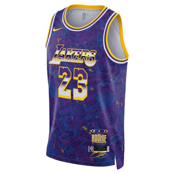 Nike Los Angeles Lakers LeBron James 2021 Mens MVP Select Jersey, Blue, rebel_hi-res
