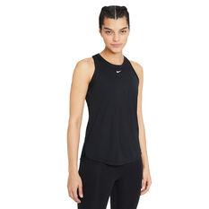 Nike Womens Dri-FIT One Standard Tank (Plus Size) Black 1X, Black, rebel_hi-res