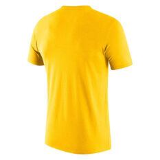 Nike Los Angeles Lakers Mens City Logo Tee Yellow S, Yellow, rebel_hi-res