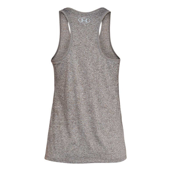 Under Armour Womens Tech Graphic Tank, Grey, rebel_hi-res