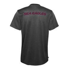 Manly Warringah Sea Eagles 2021 Mens Performance Tee, Black, rebel_hi-res