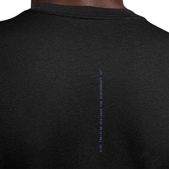 Nike Mens Dri-FIT Graphic Training Tee, Black, rebel_hi-res
