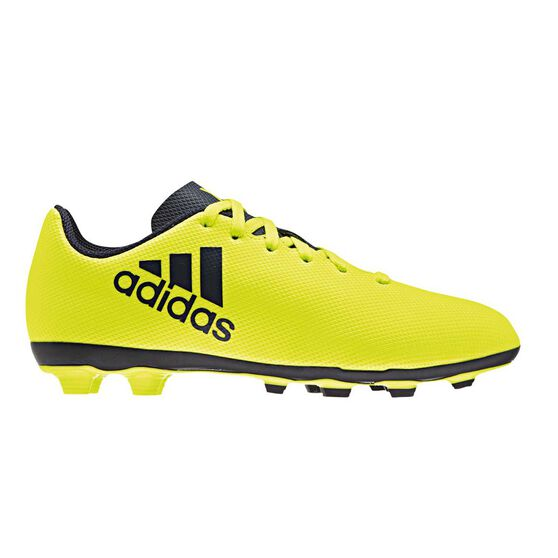 c04db79407c adidas X 17.4 Junior Football Boots Yellow   Navy US 2 Junior ...