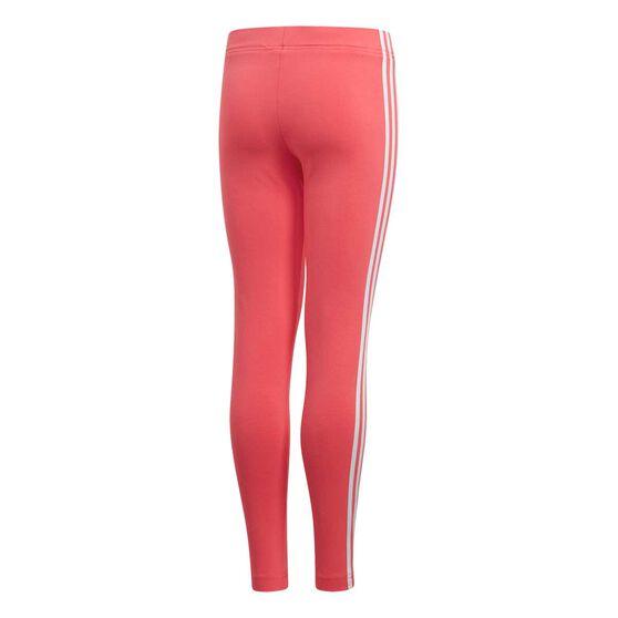 adidas Girls Essentials 3 Stripe Tights, Pink / White, rebel_hi-res