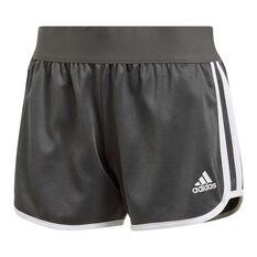 adidas Womens M10 Athletics Iteration Shorts Grey XS, Grey, rebel_hi-res