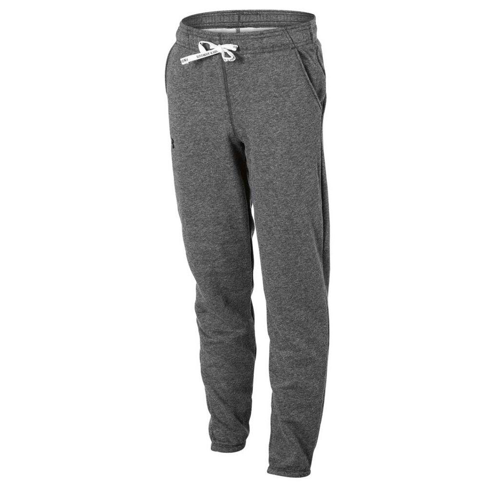 Under Armour Girls Favourite Fleece Jogger Pants Carbon XS  9e4f842366