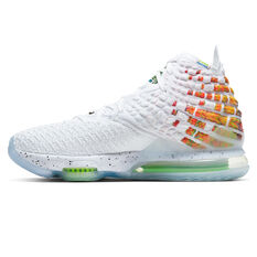 Nike LeBron XVII Mens Basketball Shoes White/Black US 7, White/Black, rebel_hi-res