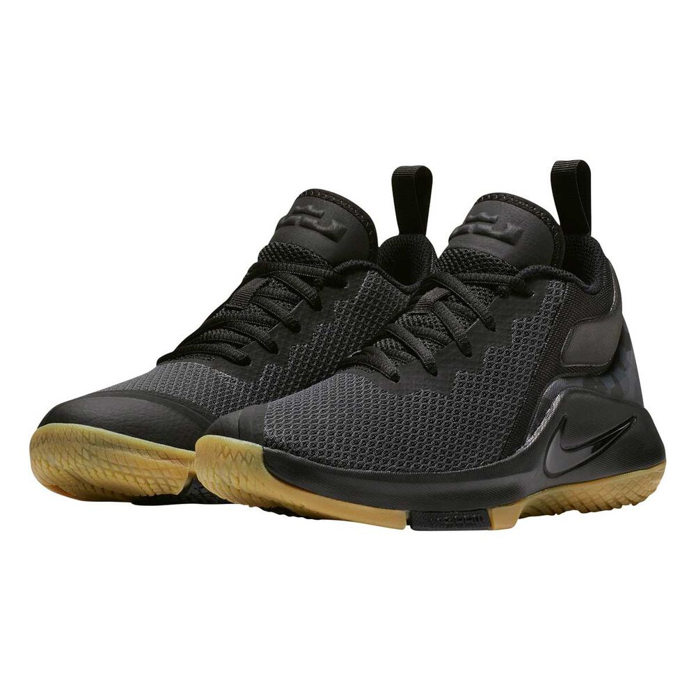 new products 4f5b2 9c9fd Nike LeBron Witness II Boys Basketball Shoes Black   Brown US 4, Black    Brown