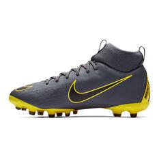 Nike Mercurial Superfly 6 Academy MG Kids Football Boots Grey / Black US 1, Grey / Black, rebel_hi-res