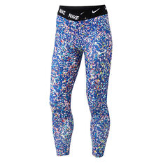 Nike Girls Dri-FIT Regrind Tights Blue 4, Blue, rebel_hi-res