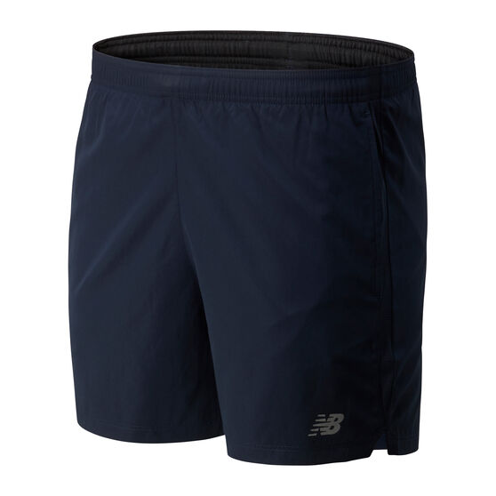 New Balance Mens Accelerate 5in Shorts, Blue, rebel_hi-res