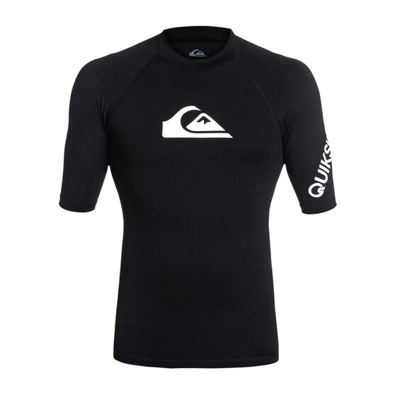 Quiksilver Mens All Time Rashie Black, Black, rebel_hi-res