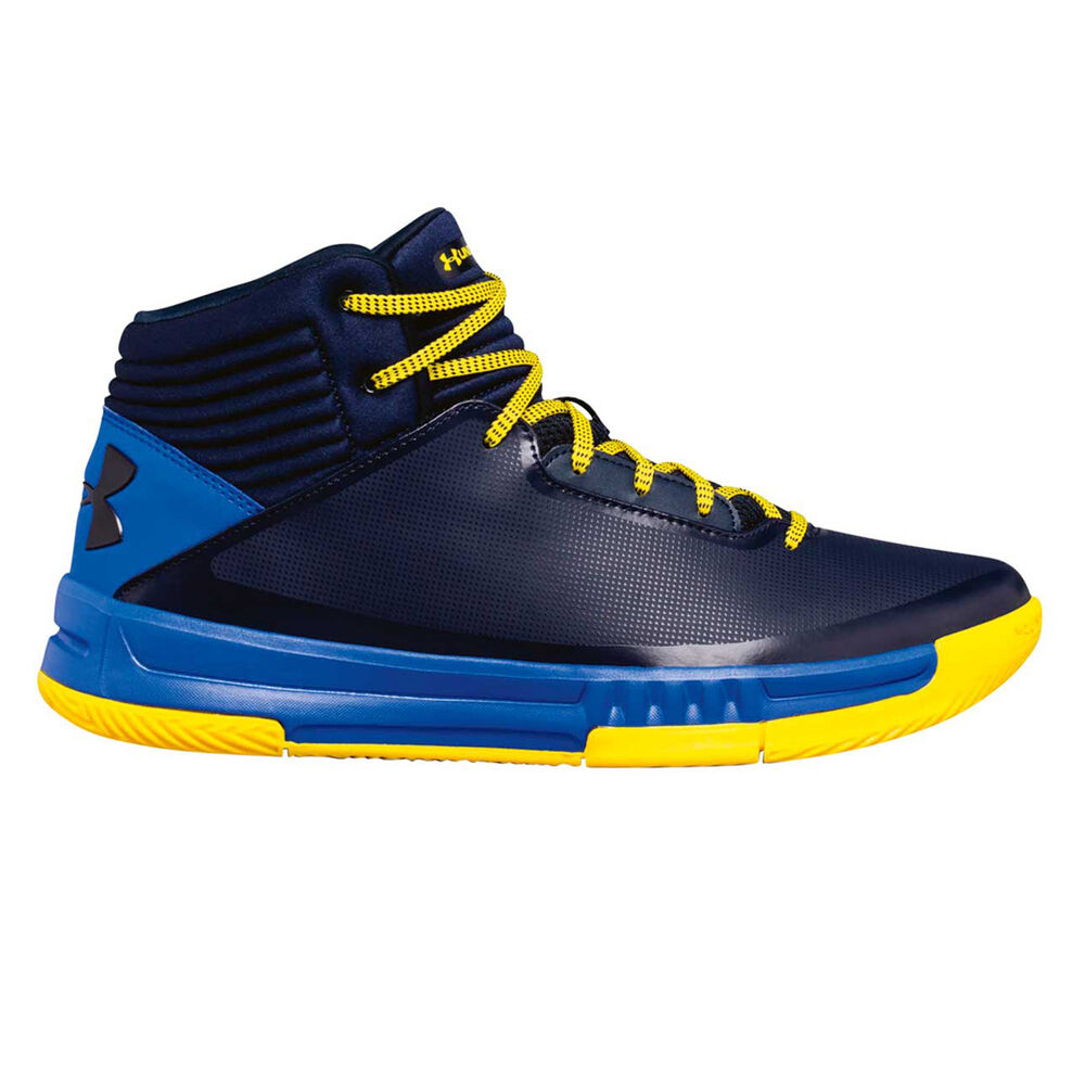 ded7c89fe629 Under Armour Lockdown 2 Mens Basketball Shoes Blue   Yellow US 13 ...