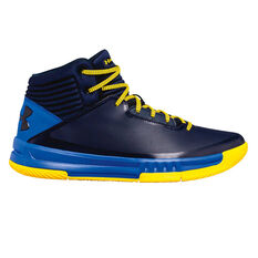 Under Armour Lockdown 2 Mens Basketball Shoes Blue / Yellow US 7, Blue / Yellow, rebel_hi-res