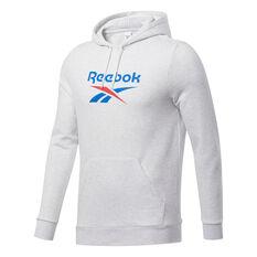 Reebok Mens Vector Hoodie White S, White, rebel_hi-res