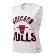 Mitchell & Ness Womens Stars Logo Chicago Bulls Tank White XS, White, rebel_hi-res