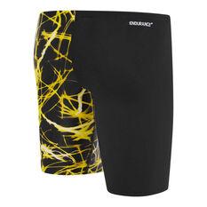 Speedo Boys School Colours Jammer Swim Shorts Yellow 6, Yellow, rebel_hi-res