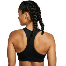 Nike Womens Victory Glam Dunk Sports Bra Black XS, Black, rebel_hi-res