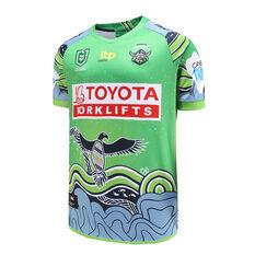 Canberra Raiders 2021 Mens Indigenous Jersey, Green, rebel_hi-res