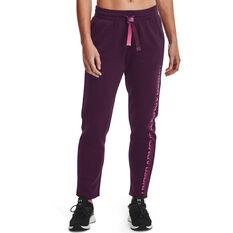 Under Armour Womens Rival Fleece Gradient Pants, Purple, rebel_hi-res