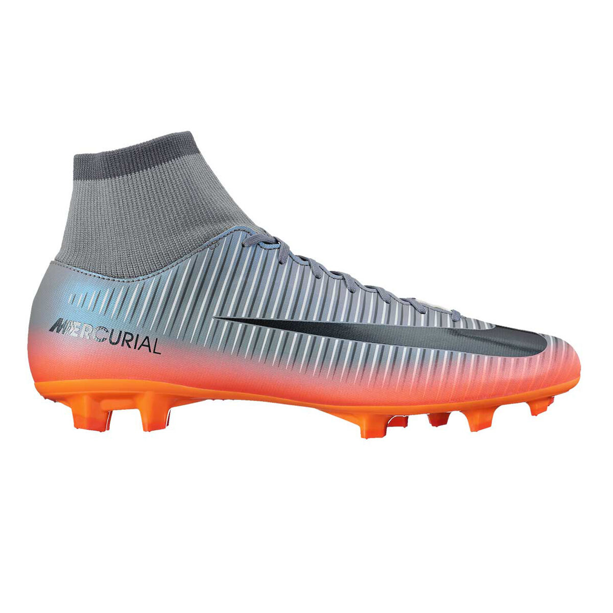 6ee1e7efcaec1 ... cheap nike mercurial victory vi cr7 dynamic fit mens football boots grey  crimson us 10 adult ...