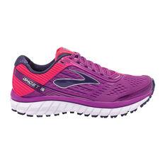 Brooks Ghost 9 Womens Running Shoes Purple / Orange US 6.5, Purple / Orange, rebel_hi-res