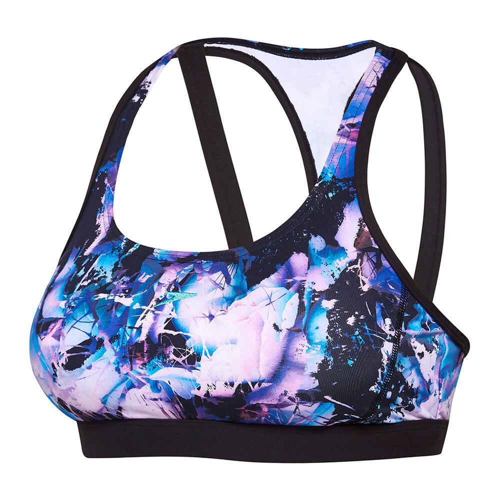 ef6f77019114a2 Speedo Womens ECO Virtual Bloom Swim Crop Top