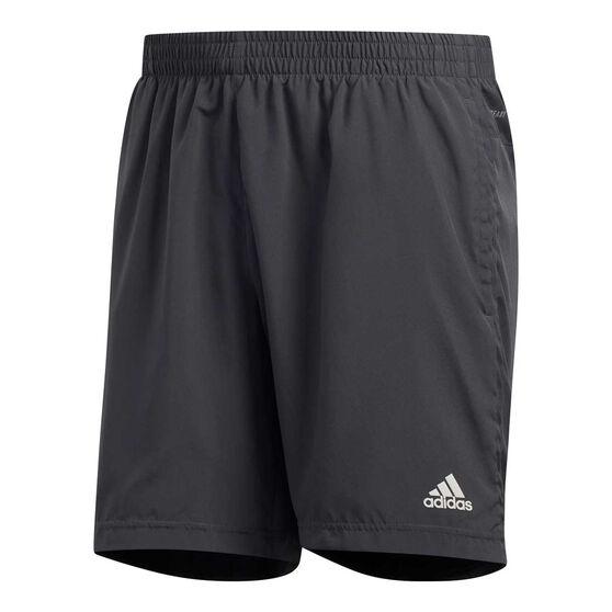 adidas Mens Run It 3-Stripes Shorts, Grey, rebel_hi-res