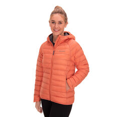 Macpac Womens Uber Light Hooded Down Jacket Orange 8, Orange, rebel_hi-res
