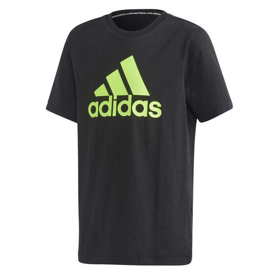 adidas Boys Must Haves Badge Of Sport Tee, Black, rebel_hi-res