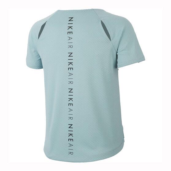 Nike Womens Air Mesh Running Tee, Green, rebel_hi-res