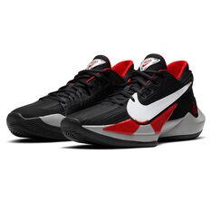 Nike Zoom Freak 2 Mens Basketball Shoes, Black/White, rebel_hi-res
