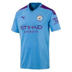 Manchester City FC 2019/20 Kids Home Jersey Blue / Purple 8, Blue / Purple, rebel_hi-res