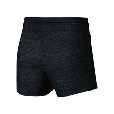Nike Womens Vintage Gym Shorts Black XS Adult, Black, rebel_hi-res