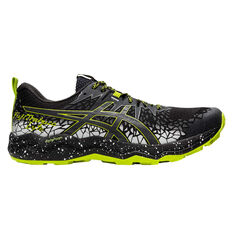 Asics Fuji Trabuco Lyte Mens Trail Running Shoes, Black/Grey, rebel_hi-res