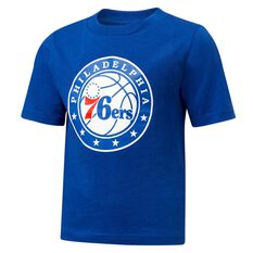 Philadelphia 76ers Short Sleeve Cotton Tee Blue / White 3, Blue / White, rebel_hi-res