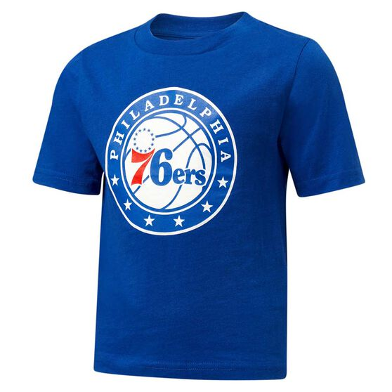 Philadelphia 76ers Short Sleeve Cotton Tee, Blue / White, rebel_hi-res