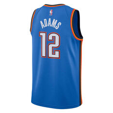 Nike Oklahoma City Thunder Steven Adams 2019 Mens Icon Edition Swingman Jersey Blue S, Blue, rebel_hi-res